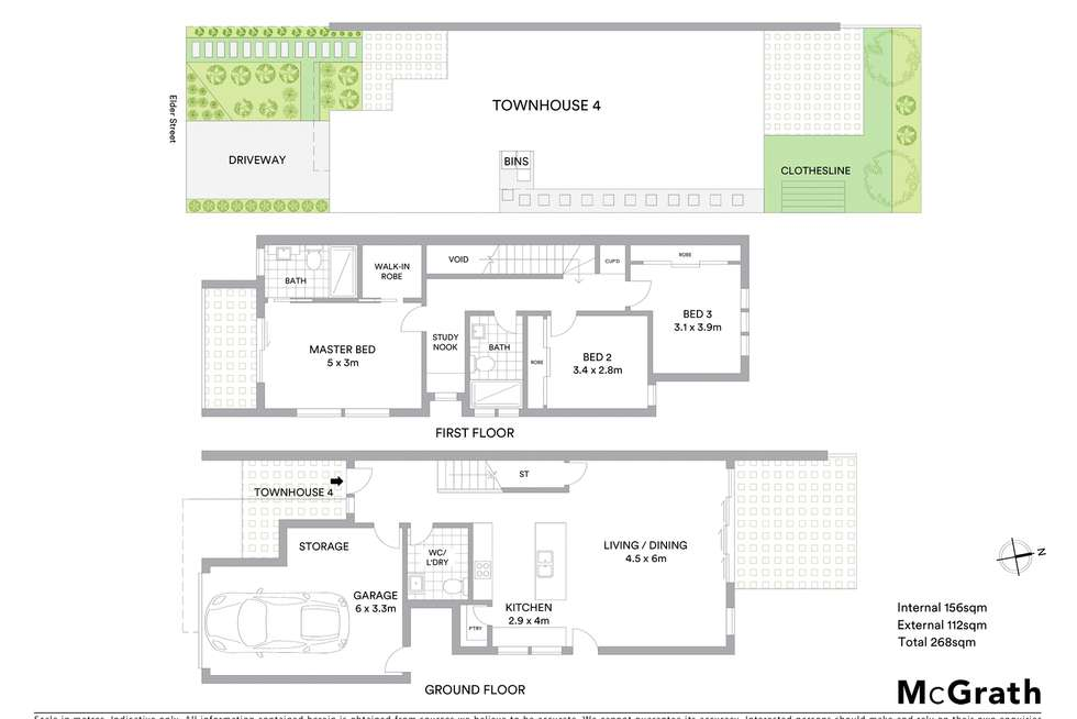 Floorplan of Homely townhouse listing, 36 Elder Street, Lambton NSW 2299