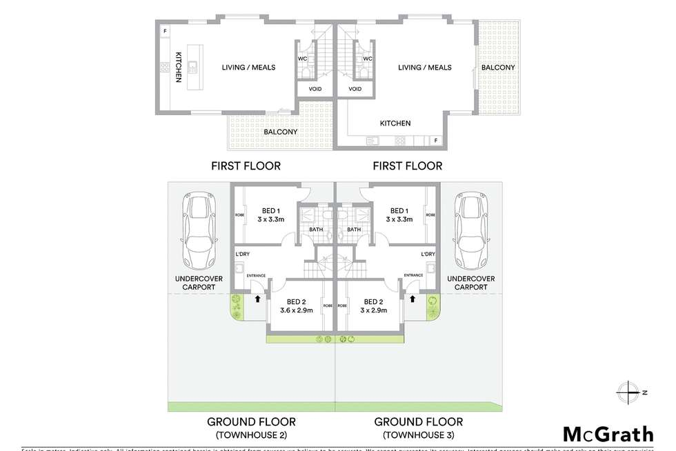 Floorplan of Homely townhouse listing, 2/590 Bell Street, Pascoe Vale South VIC 3044