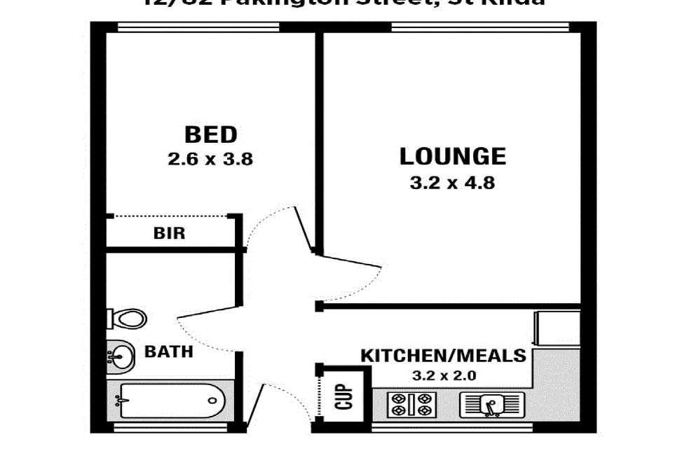 Floorplan of Homely apartment listing, 12/82 Pakington Street, St Kilda VIC 3182
