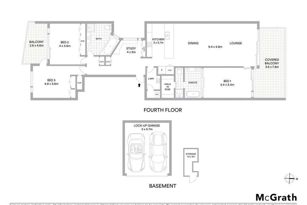 Floorplan of Homely apartment listing, 401/44 William Street, Port Macquarie NSW 2444