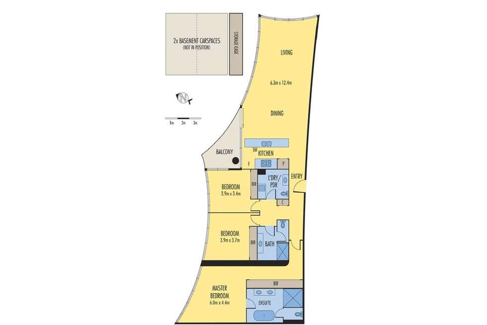 Floorplan of Homely apartment listing, 1004/454 St Kilda Road, Melbourne VIC 3004