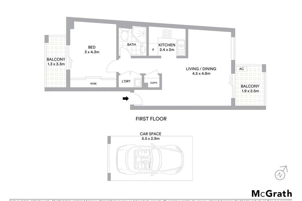 Floorplan of Homely apartment listing, 74/6 Nile Close, Marsfield NSW 2122