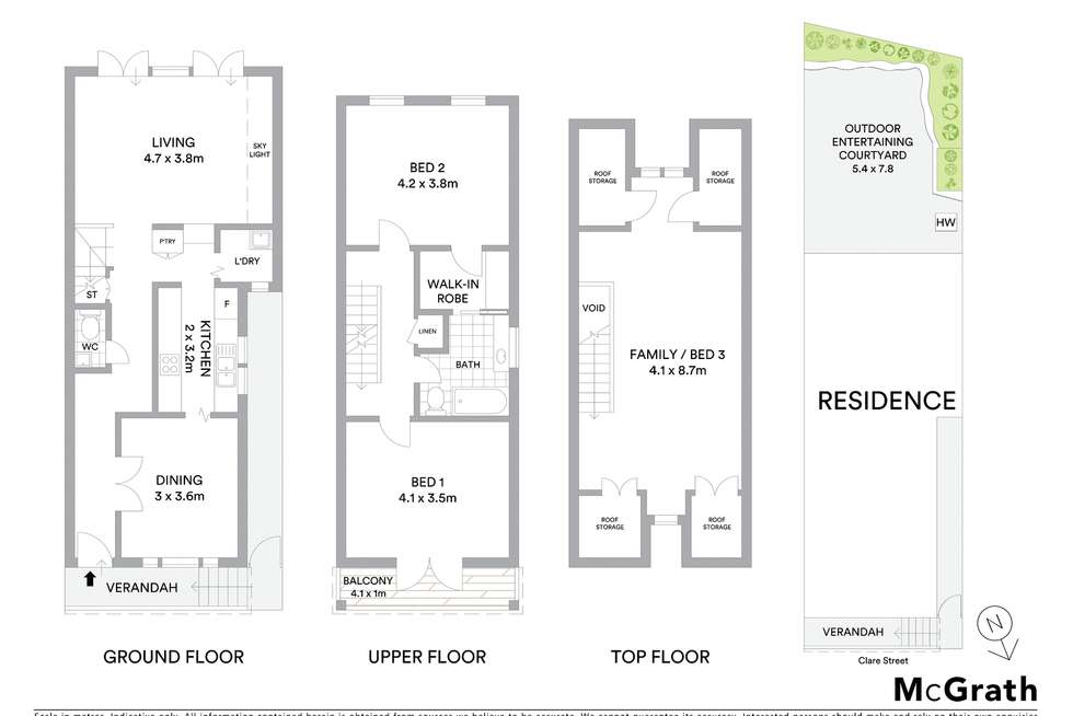 Floorplan of Homely house listing, 18 Clare Street, Rozelle NSW 2039
