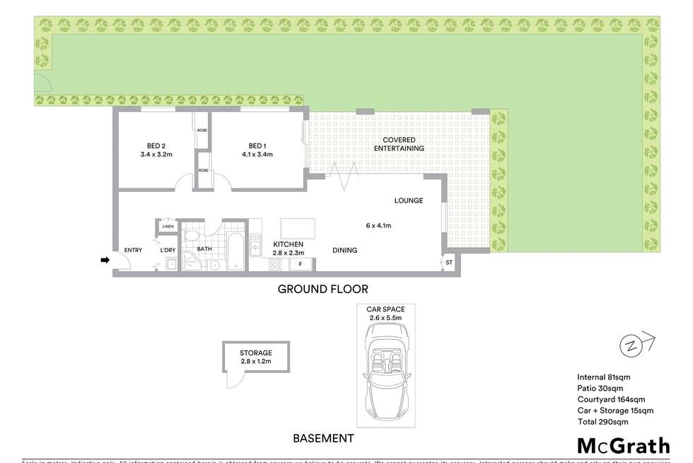 Floorplan of Homely apartment listing, 1/57 South Street, Rydalmere NSW 2116