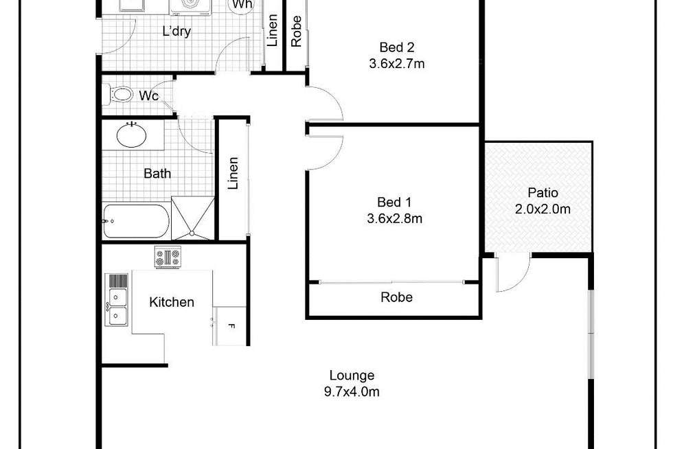 Floorplan of Homely apartment listing, 4/203 Albany Street, Point Frederick NSW 2250