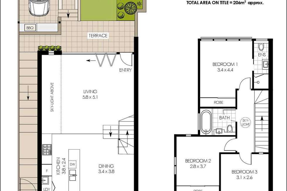Floorplan of Homely house listing, 14c Rocklands Road, Wollstonecraft NSW 2065