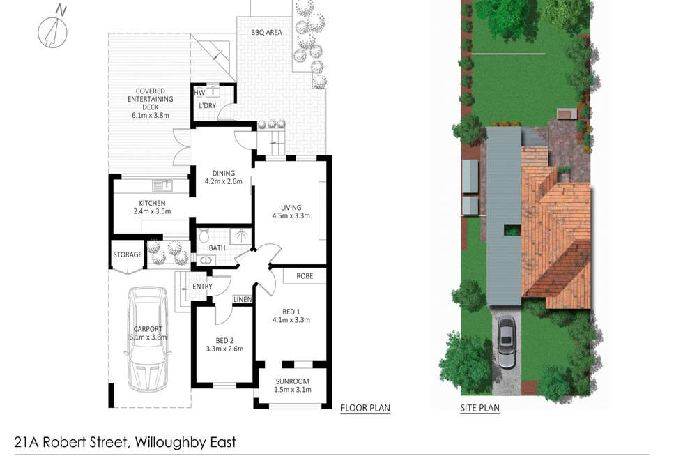 Floorplan of Homely house listing, 21A Robert Street, Willoughby NSW 2068