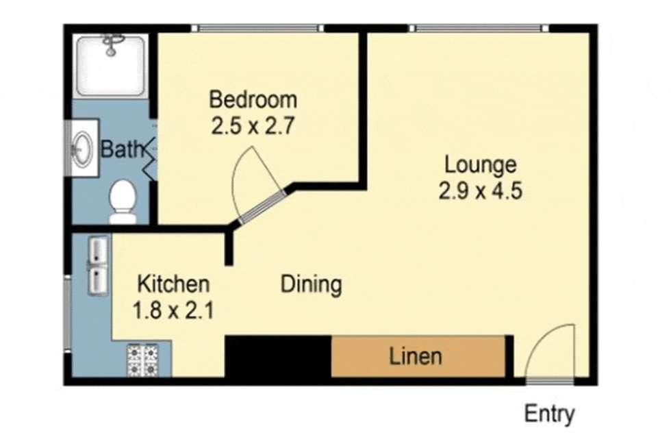 Floorplan of Homely apartment listing, 2/173 Bridge Road, Glebe NSW 2037