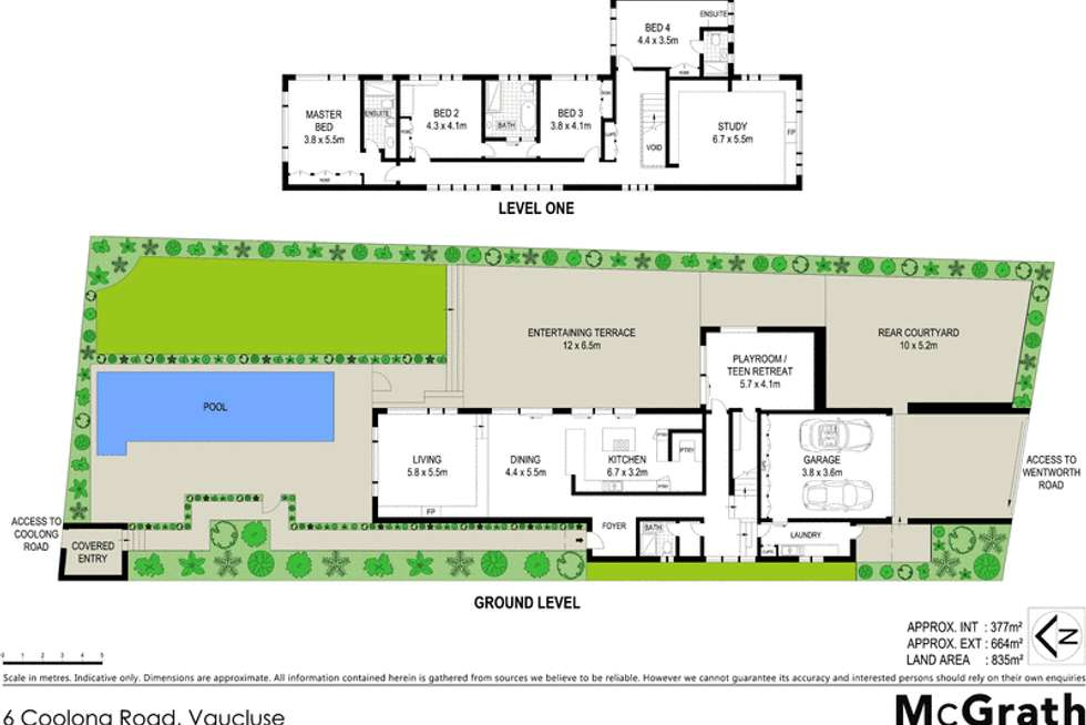 Floorplan of Homely house listing, 6 Coolong Road, Vaucluse NSW 2030