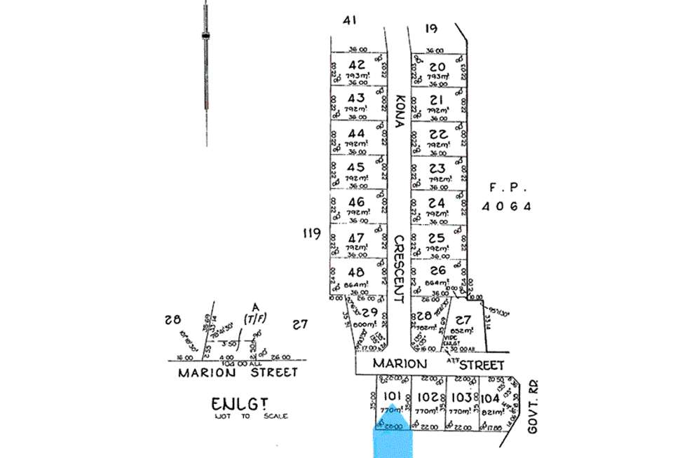 Floorplan of Homely residentialLand listing, Lot /101 Marion Street Sultana Point, Edithburgh SA 5583
