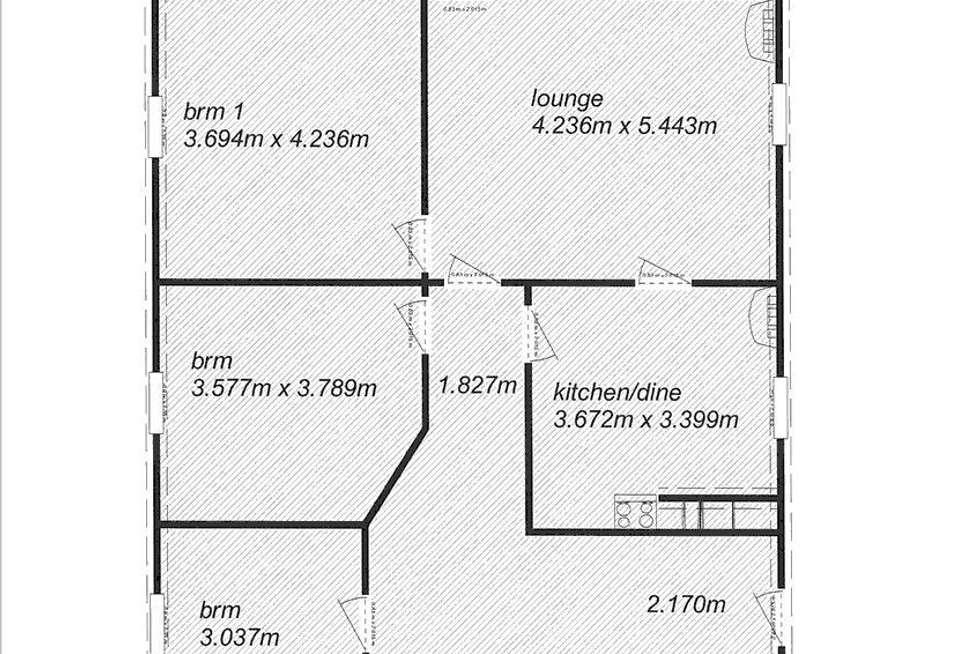 Floorplan of Homely house listing, 44 Park Terrace, Edithburgh SA 5583