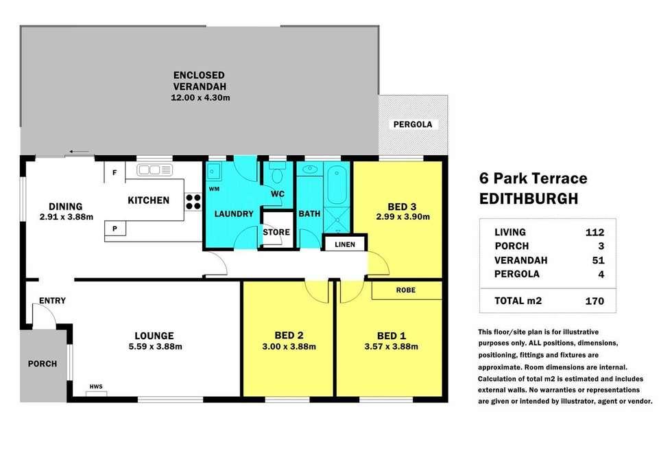 Floorplan of Homely house listing, 6 Park Terrace, Edithburgh SA 5583