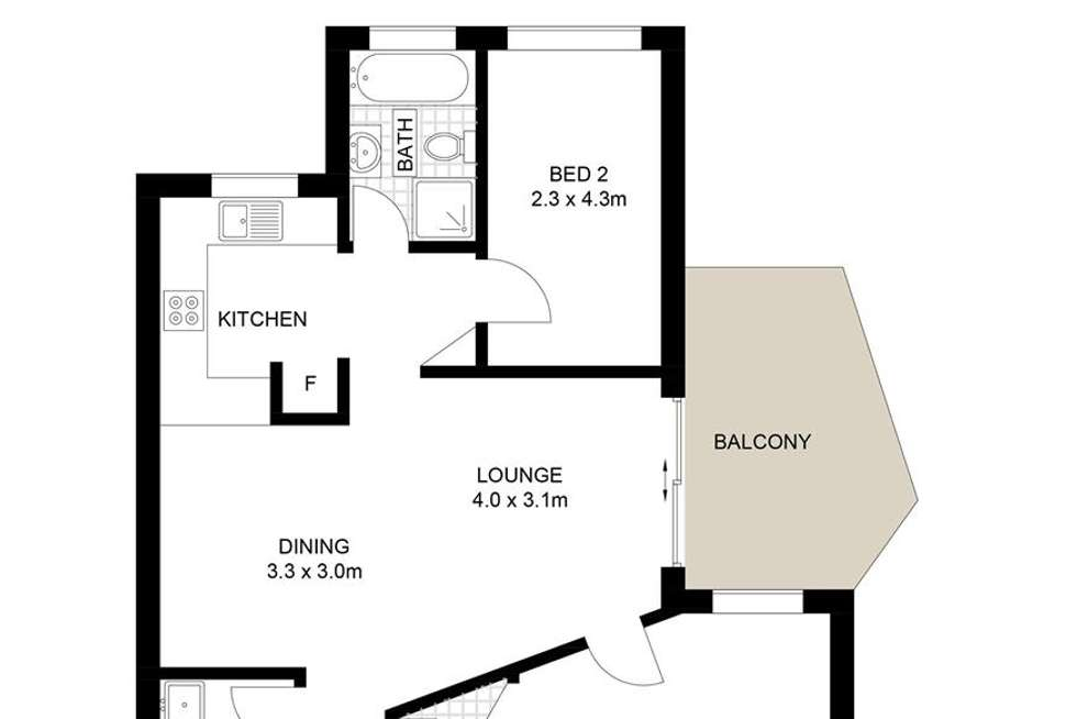 Floorplan of Homely apartment listing, 6/8-14 Gibbs Street, Miranda NSW 2228