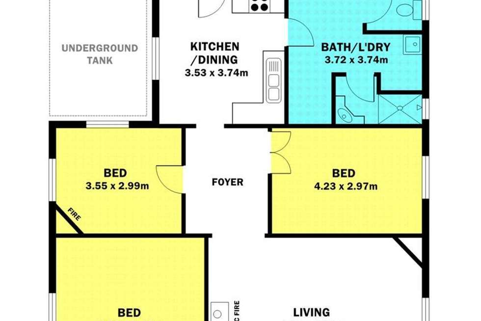 Floorplan of Homely house listing, 6452 St Vincents Highway, Edithburgh SA 5583