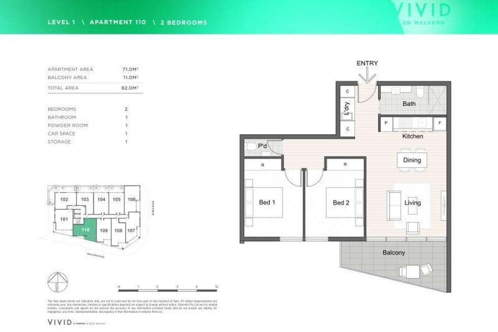 Floorplan of Homely apartment listing, 110/1615 Malvern Road, Glen Iris VIC 3146