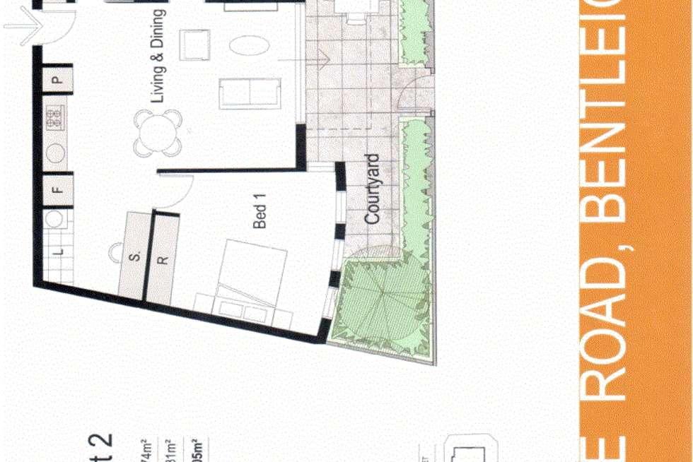Floorplan of Homely apartment listing, 2/1 Mackie  Road, Bentleigh East VIC 3165