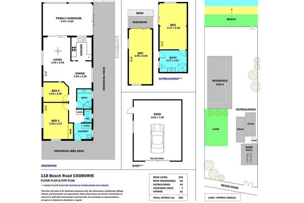 Floorplan of Homely house listing, 118 Beach Road, Coobowie SA 5583
