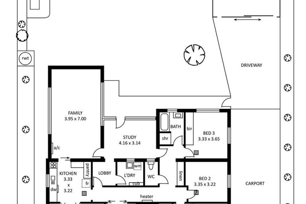 Floorplan of Homely house listing, 85 Ninth Avenue, Royston Park SA 5070