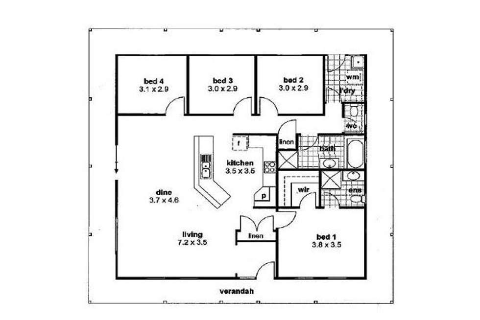 Floorplan of Homely house listing, 2 Edward Street, Mannum SA 5238