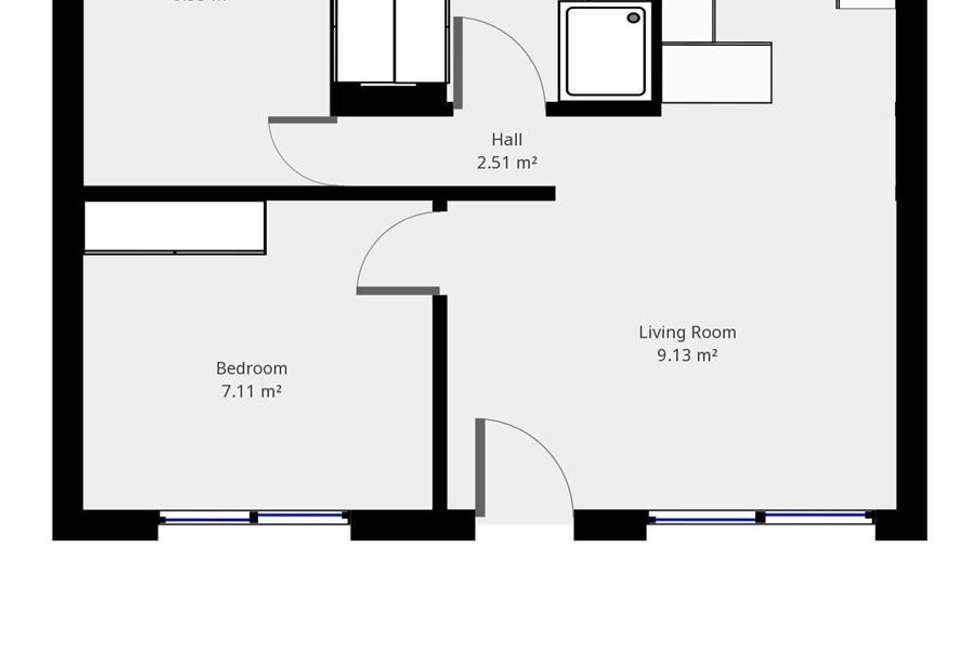 Floorplan of Homely unit listing, 2/92 Lawrence Street, Wodonga VIC 3690
