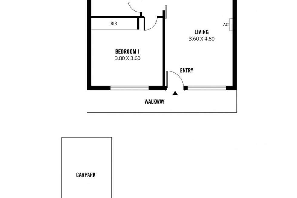 Floorplan of Homely unit listing, 18/2 Emerson Road, Black Forest SA 5035