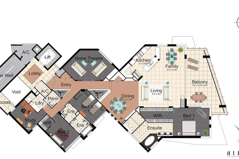 Floorplan of Homely apartment listing, Allure, 1 Enderley Avenue, Surfers Paradise QLD 4217