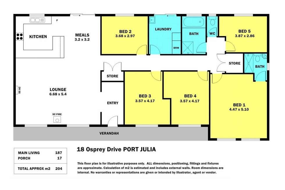 Floorplan of Homely house listing, 18 Osprey Street, Curramulka SA 5580