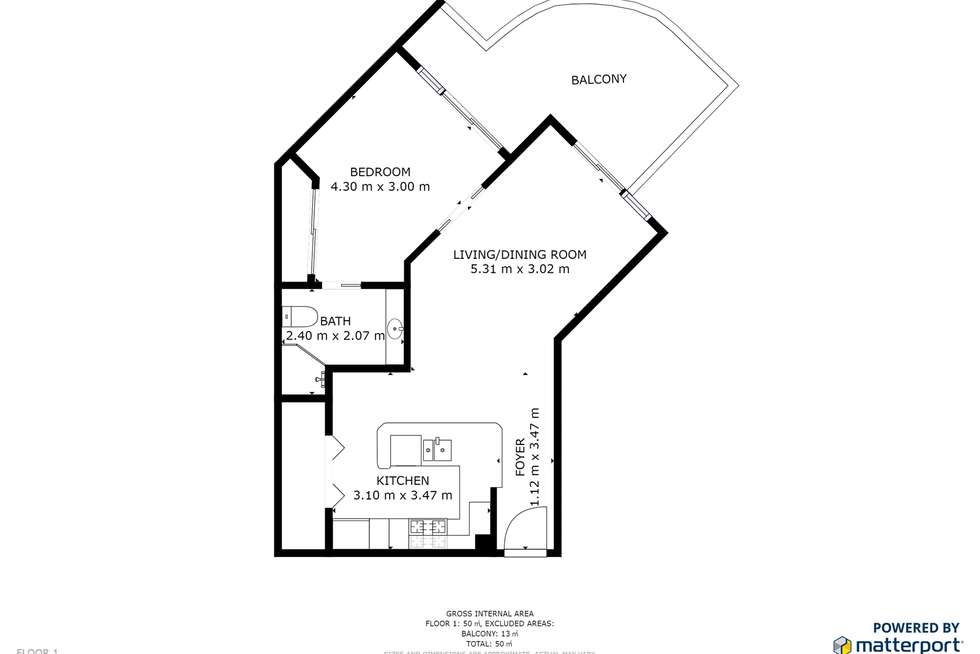 Floorplan of Homely apartment listing, 402/1483 Gold Coast Highway, Palm Beach QLD 4221