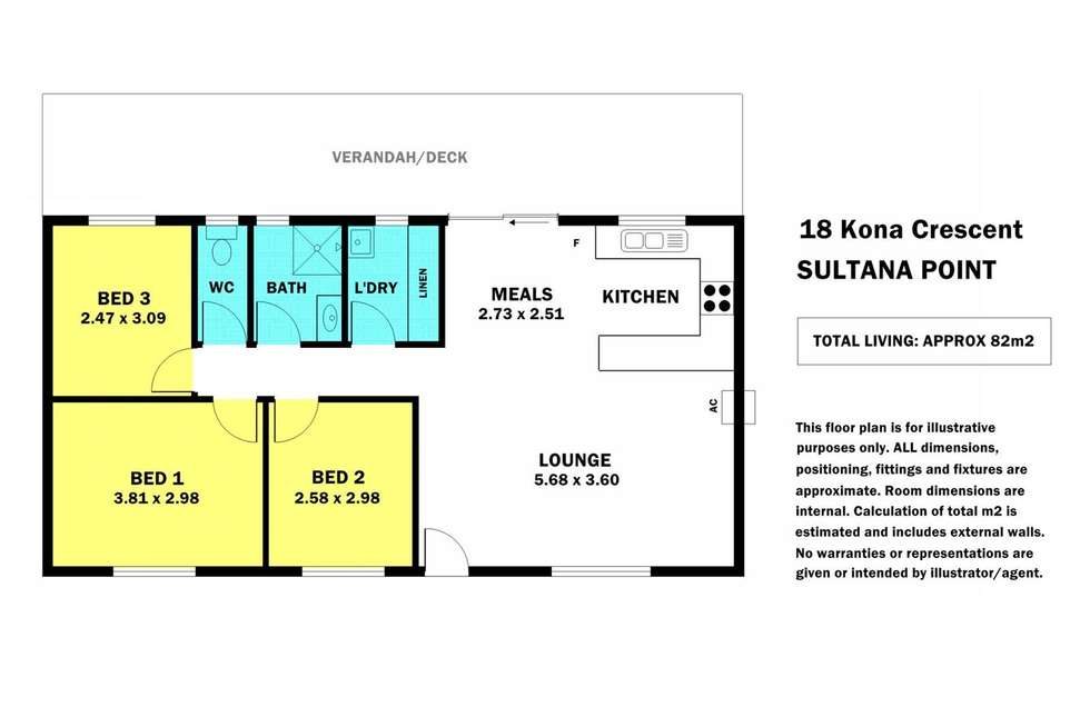 Floorplan of Homely house listing, 18 Kona Crescent, Edithburgh SA 5583