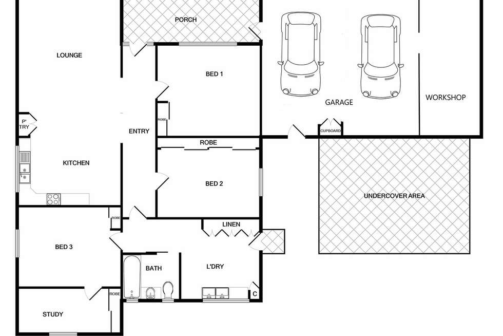 Floorplan of Homely house listing, 10 Athol Street, Wodonga VIC 3690
