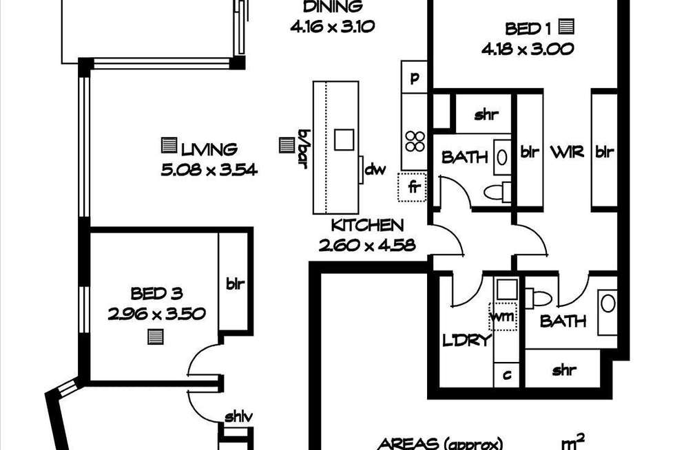 Floorplan of Homely apartment listing, 1102/10 Park Terrace, Bowden SA 5007