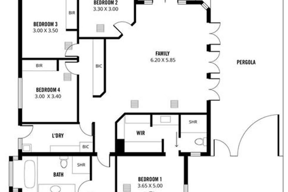 Floorplan of Homely house listing, 34 Rozells Avenue, Colonel Light Gardens SA 5041