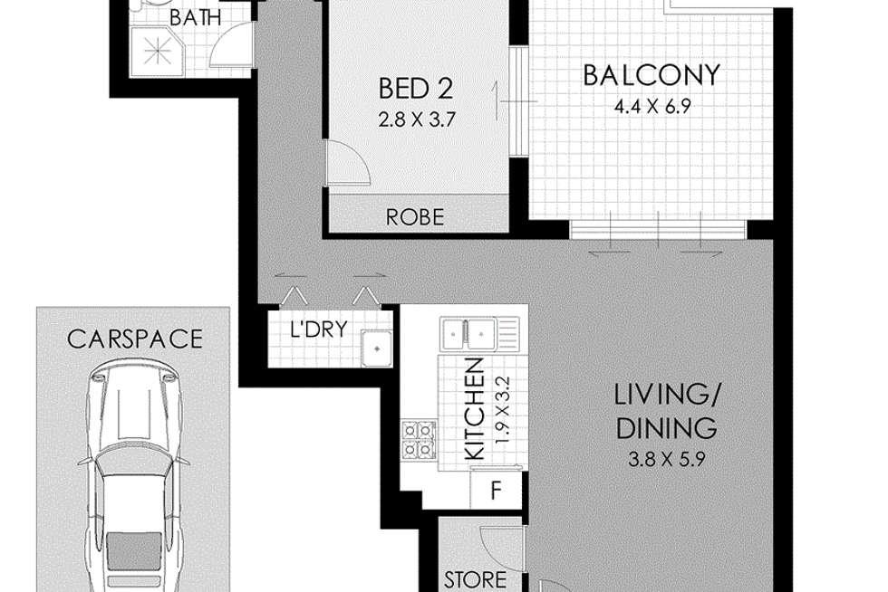 Floorplan of Homely apartment listing, 113/36-44 John Street, Lidcombe NSW 2141
