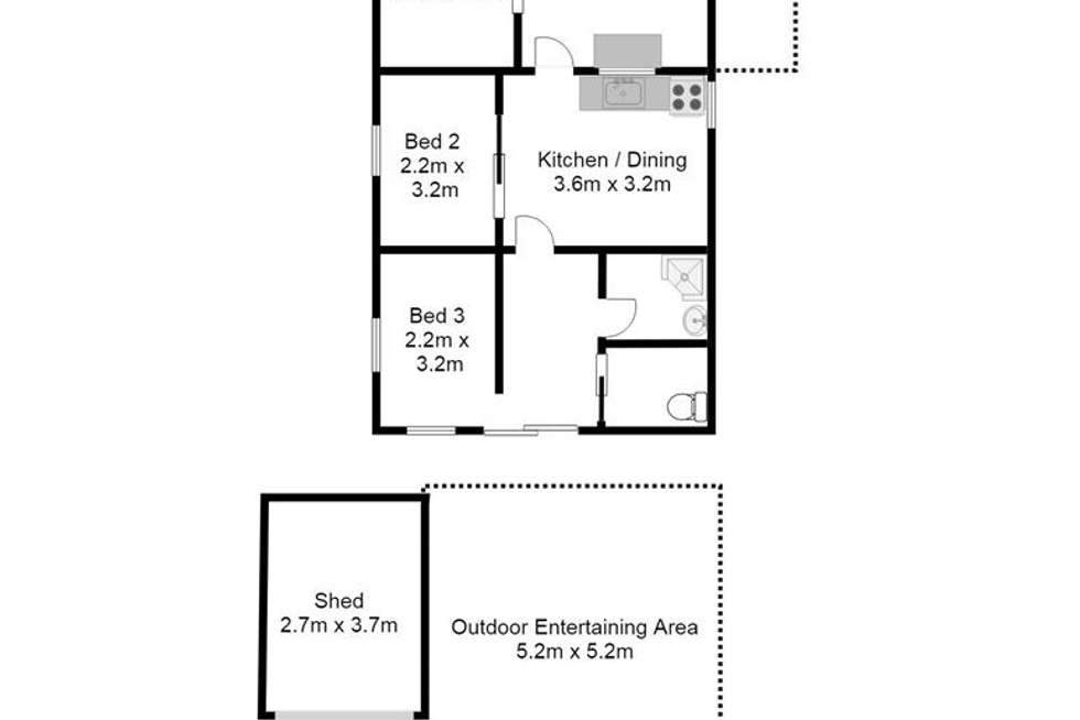 Floorplan of Homely house listing, 340 East Front Road, Cowirra North via, Mannum SA 5238