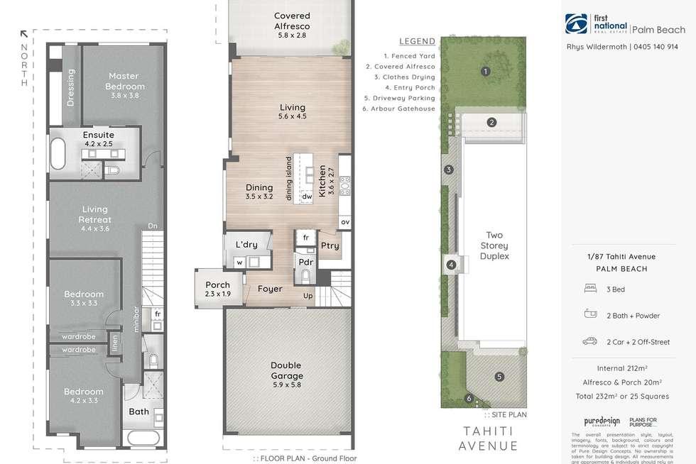Floorplan of Homely townhouse listing, 1/87 Tahiti Avenue, Palm Beach QLD 4221