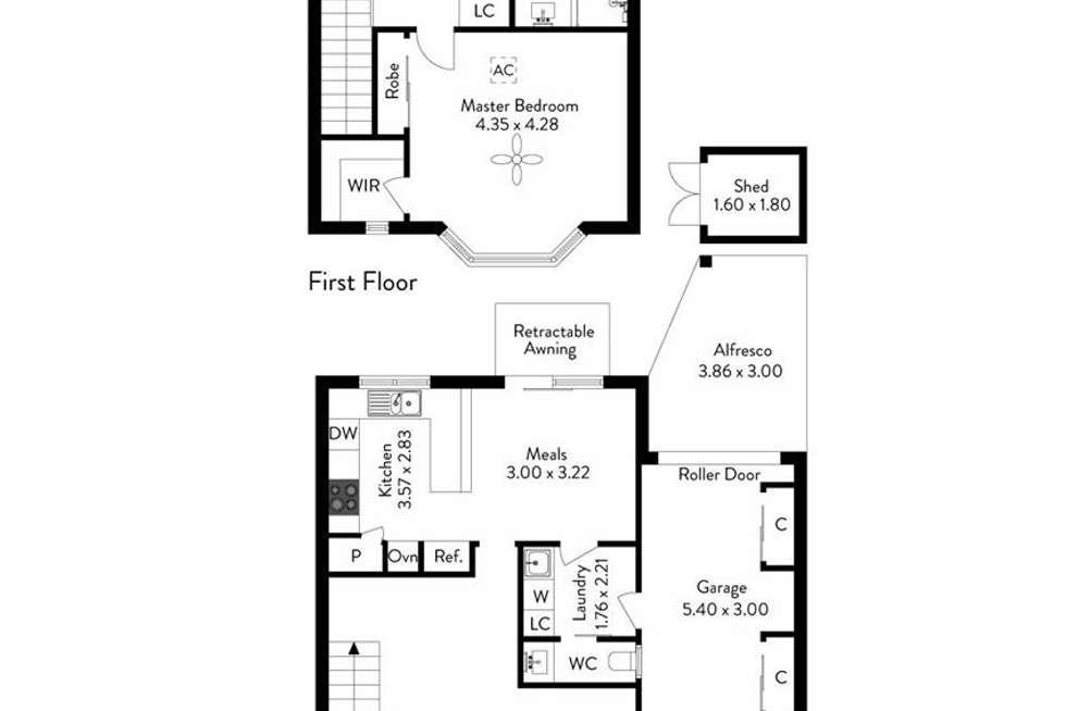Floorplan of Homely unit listing, 5/1 Dunluce Avenue, Brighton SA 5048