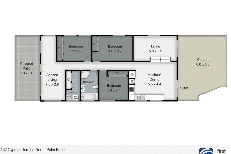 Floorplan of Homely house listing, 432 Cypress Terrace North, Palm Beach QLD 4221