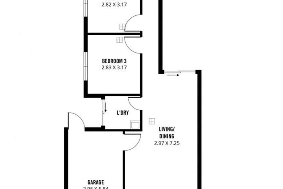 Floorplan of Homely house listing, 22B Harcourt Terrace, Salisbury North SA 5108