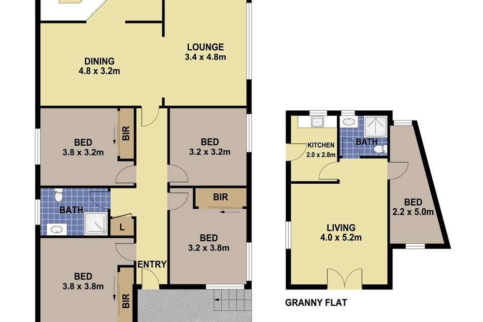 Floorplan of Homely house listing, 54 Sedgman Crescent, Shalvey NSW 2770