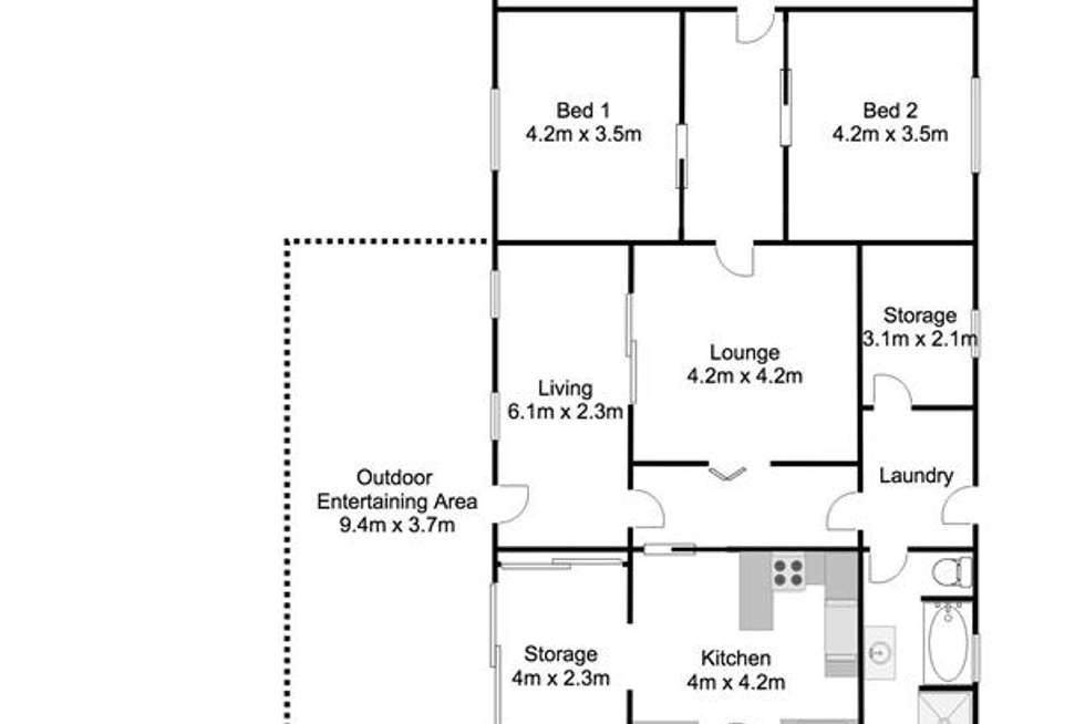 Floorplan of Homely house listing, 8 Queen Mary Street, Mannum SA 5238