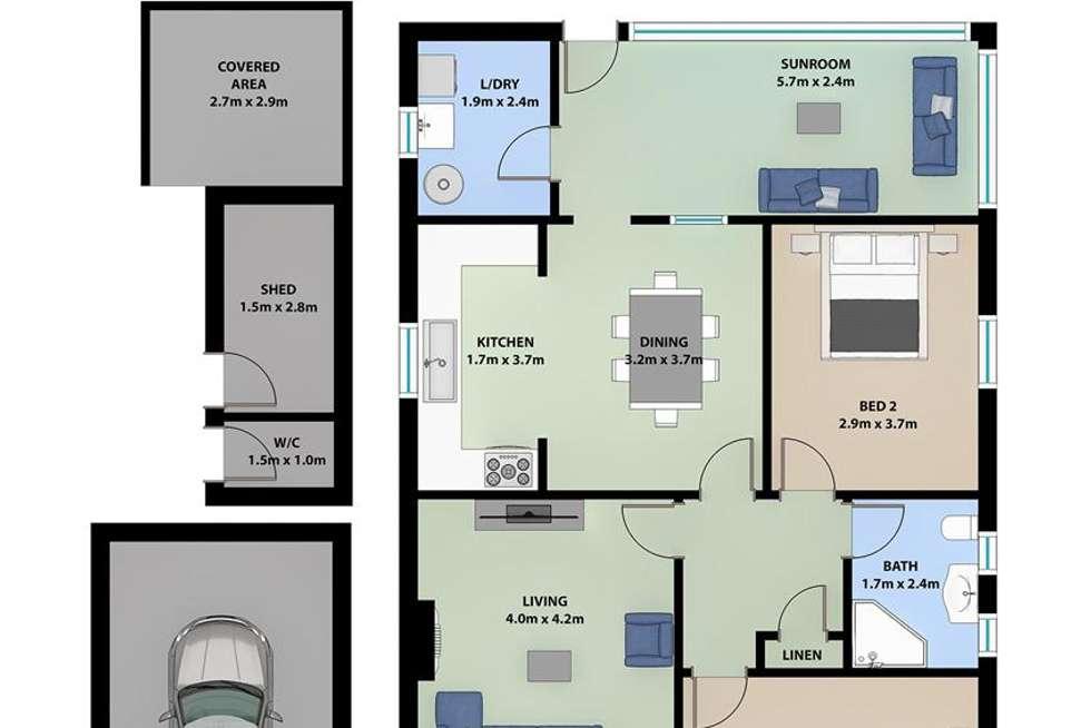 Floorplan of Homely house listing, 13 Mount Street, Mount Saint Thomas NSW 2500