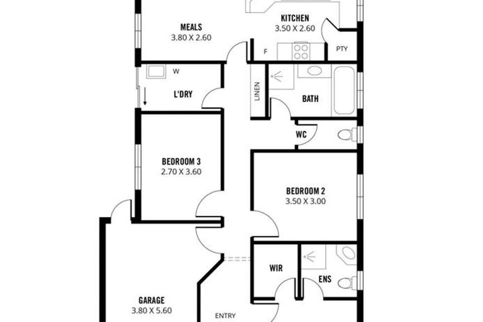 Floorplan of Homely house listing, 3A Bailey Street, St Marys SA 5042