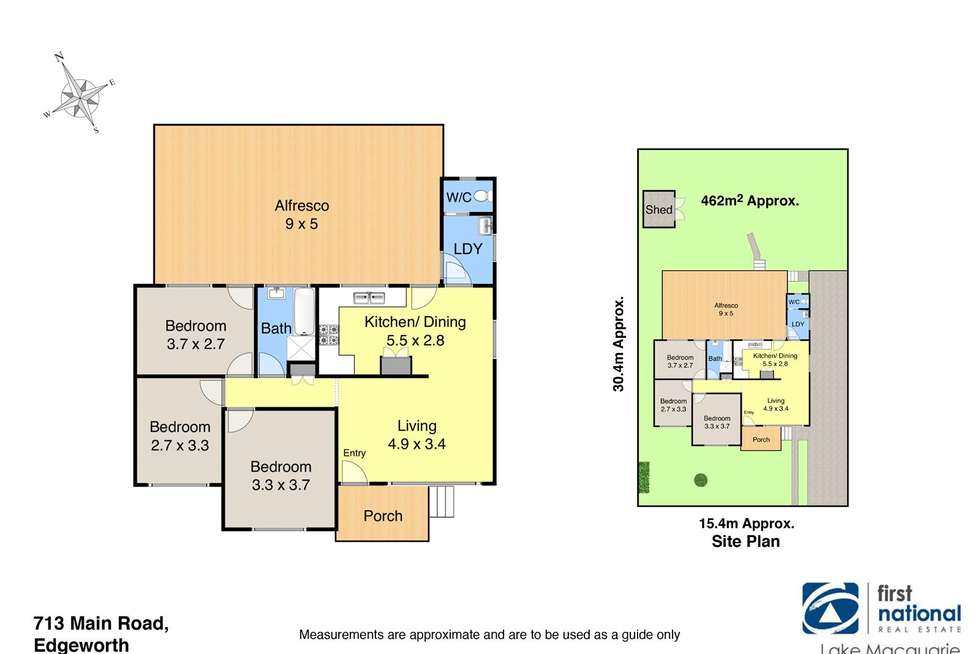 Floorplan of Homely house listing, 713 Main Road, Edgeworth NSW 2285
