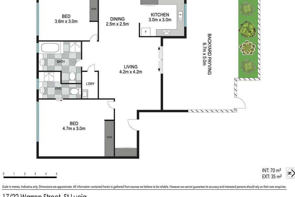 Floorplan of Homely apartment listing, 17/22 Warren Street, St Lucia QLD 4067