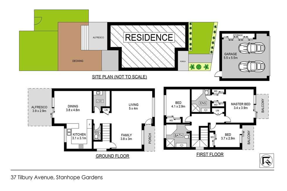 Floorplan of Homely house listing, 37 Tilbury Avenue, Stanhope Gardens NSW 2768