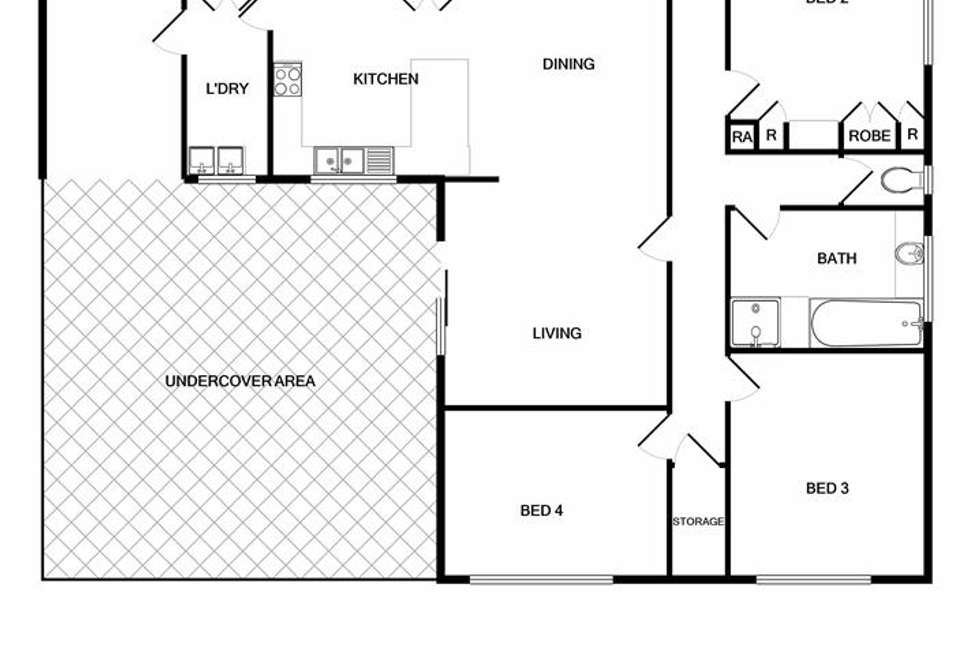Floorplan of Homely house listing, 18 Roseland Road, Wodonga VIC 3690