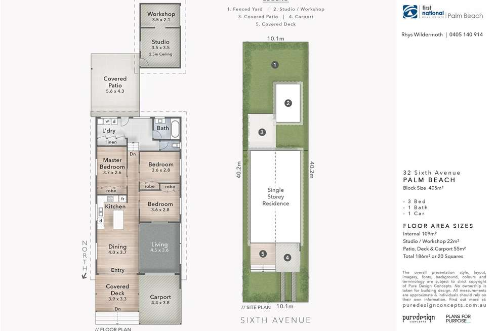 Floorplan of Homely house listing, 32 Sixth Avenue, Palm Beach QLD 4221