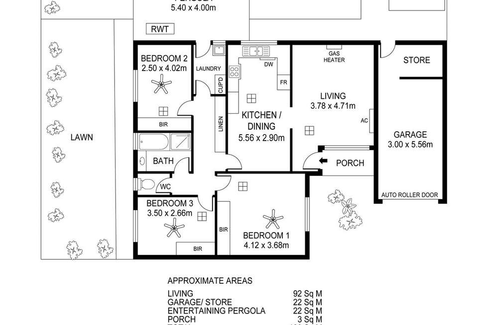 Floorplan of Homely unit listing, 4/10 Dunkley Avenue, Firle SA 5070