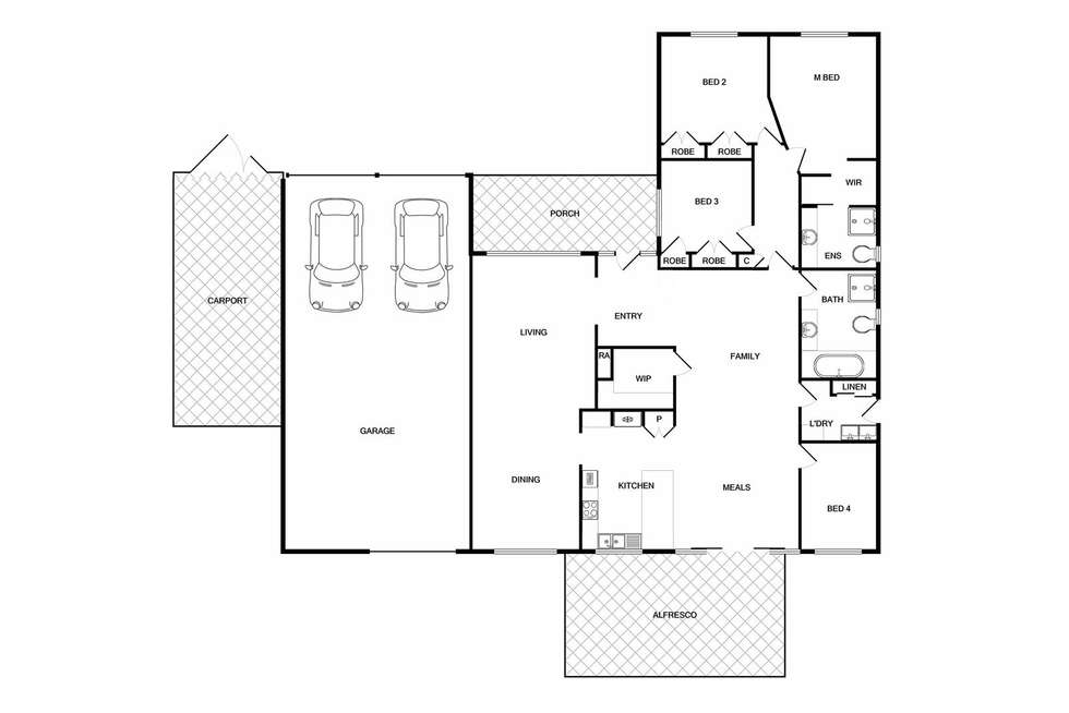 Floorplan of Homely house listing, 3 Scarborough Drive, Wodonga VIC 3690