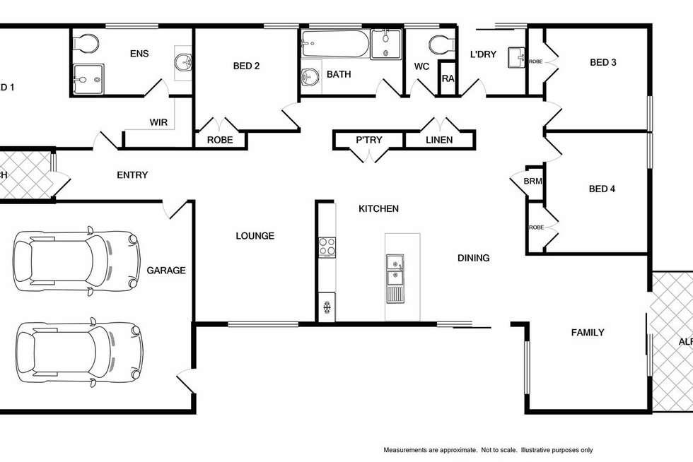 Floorplan of Homely house listing, 13 Bugden Street, Wodonga VIC 3690